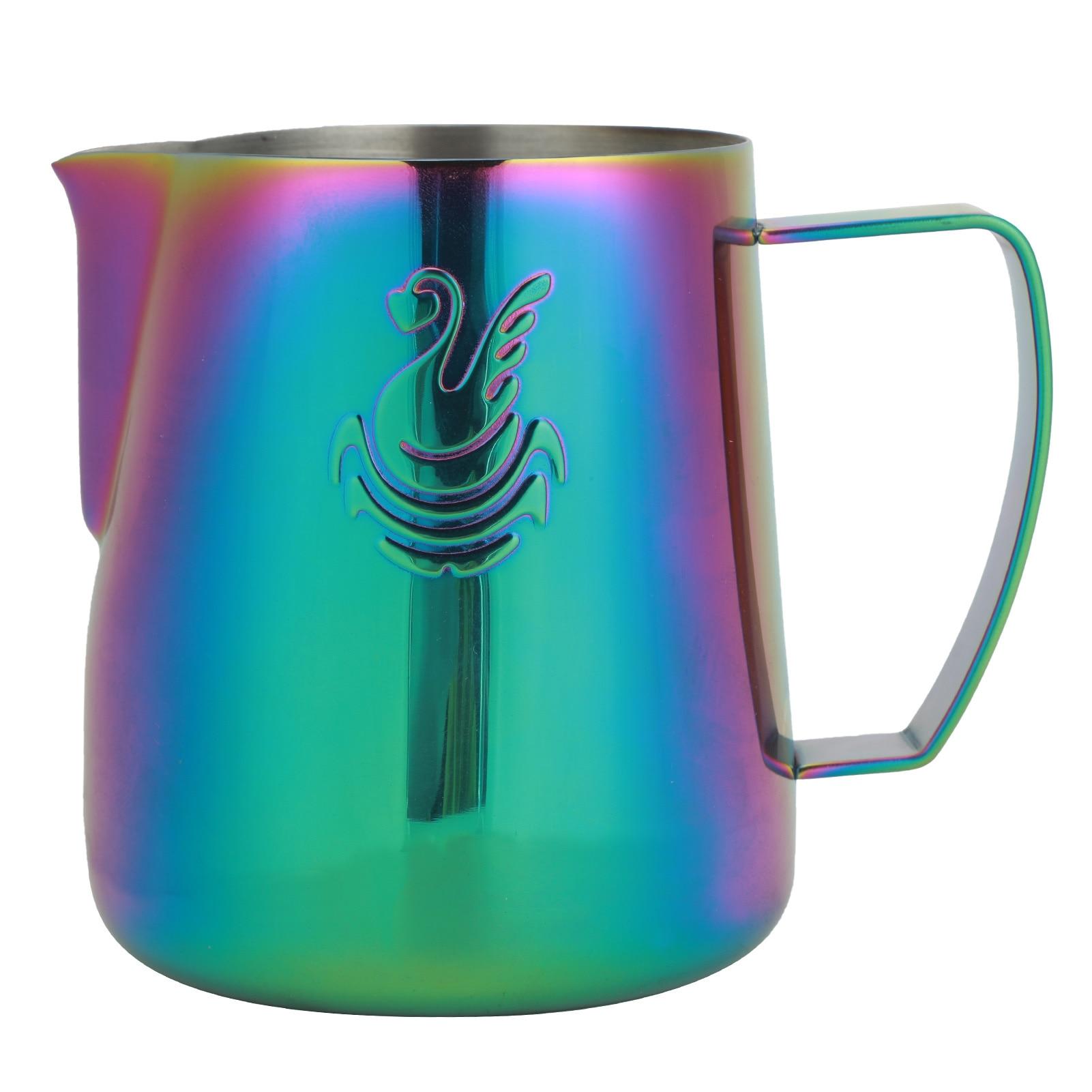 إبريق القهوة الفولاذ المقاوم للصدأ اسبريسو لاتيه الفن إبريق الحليب مزبد كوب 400 مللي/600 مللي كريم صانع Frother المطبخ الإستنسل