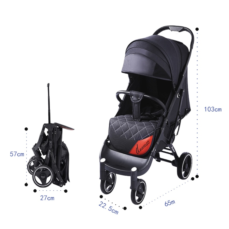 Baby Stroller Dearest 718 Is Suitable For 0-3 Children, Light And Comfortable One-key Stroller enlarge