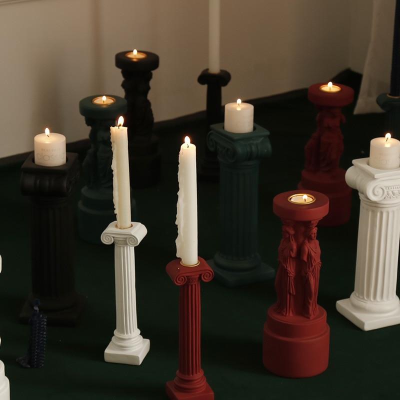 Candelabro de aromaterapia, candelero de centro de mesa de boda, candelabros de la Diosa Venus romana, candelabro decorativo para mesa de cena