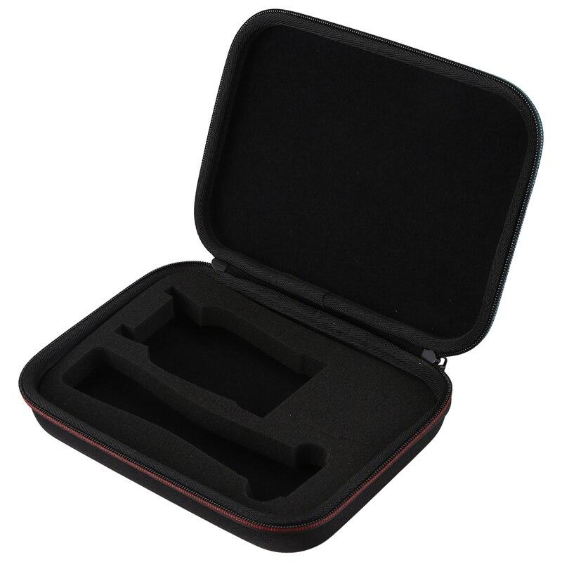 Ams-hard EVA Estuche de transporte de doble cremallera de los hombres Hybrid Electric Trimmer Shaver almacenamiento bolsa para Philips Norelco Bodygroomer BG2040