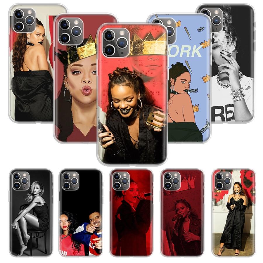 Funda antitrabajo Rihanna para Apple iphone 11 Pro XS Max XR X 7 8 6 6S Plus 5 5S SE 10 diez regalo funda de silicona para teléfono