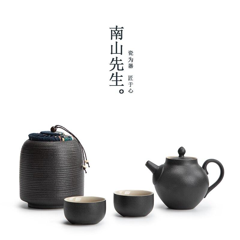 طقم شاي أسود السفر الكونغ فو الخزف طقم شاي صيني عرض الزينة الجمالية Tetera بورسيليانا teبينة مجموعات BG50TS