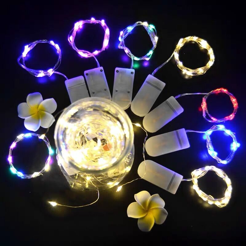 1m 2m 5m 10m fairy lights copper wire led string lights for christmas garland wedding party indoor room decoration battery usb Led String Lights Battery Operated Garland 1M 2M 5M Fairy Festoon Led Light Christmas Wedding Party Living Room Decoration