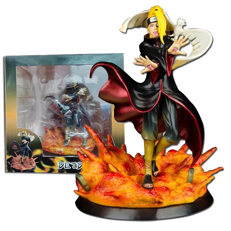 7 anime figure neca pvc jason voorhees friday ultimate horror deluxe edition action figure model toys for collection gift Anime Role Deidara Figure Action Statue Figurine PVC Collection Model Figure Toys 17cm With Color Box Stickes Doll Gift