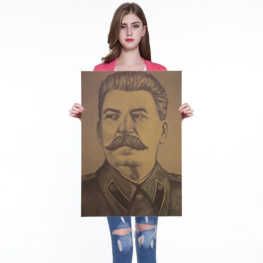 Ретро плакат Сталин винтажные плакаты и принты кофе кухня гостиная декоративная живопись крафт-бумага наклейки на стену 50x35 см