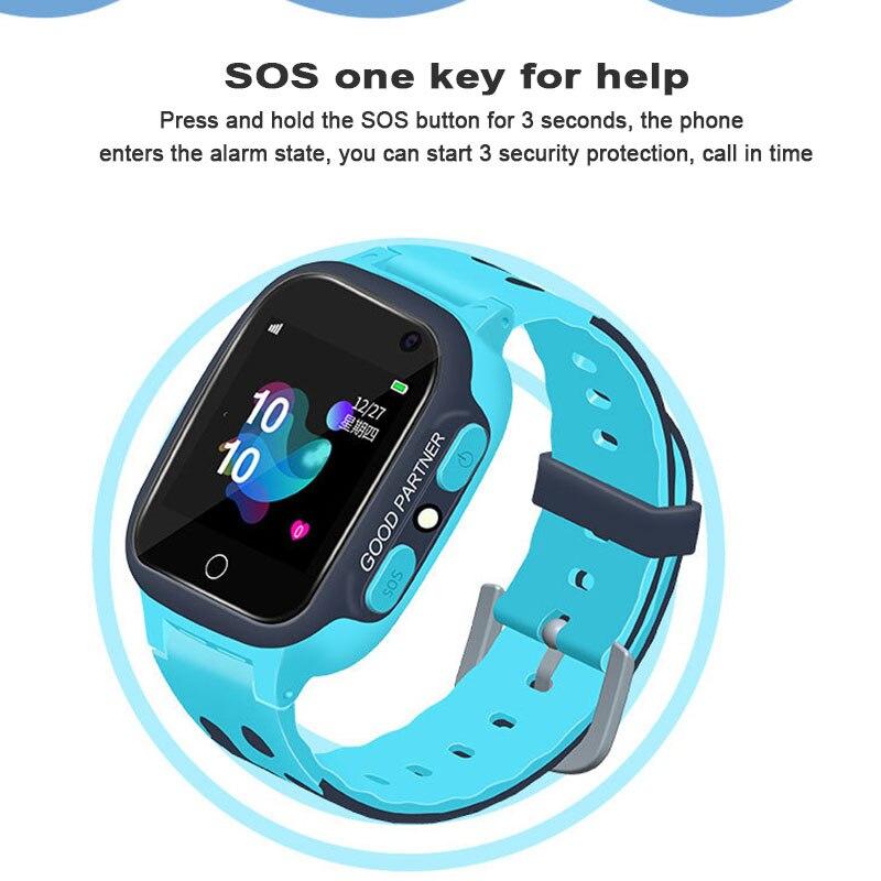 2019 regalos de Feliz Navidad reloj inteligente con GPS GSM localizador táctil rastreador con pantalla SOS para niños tarjeta SIM Anti-pérdida