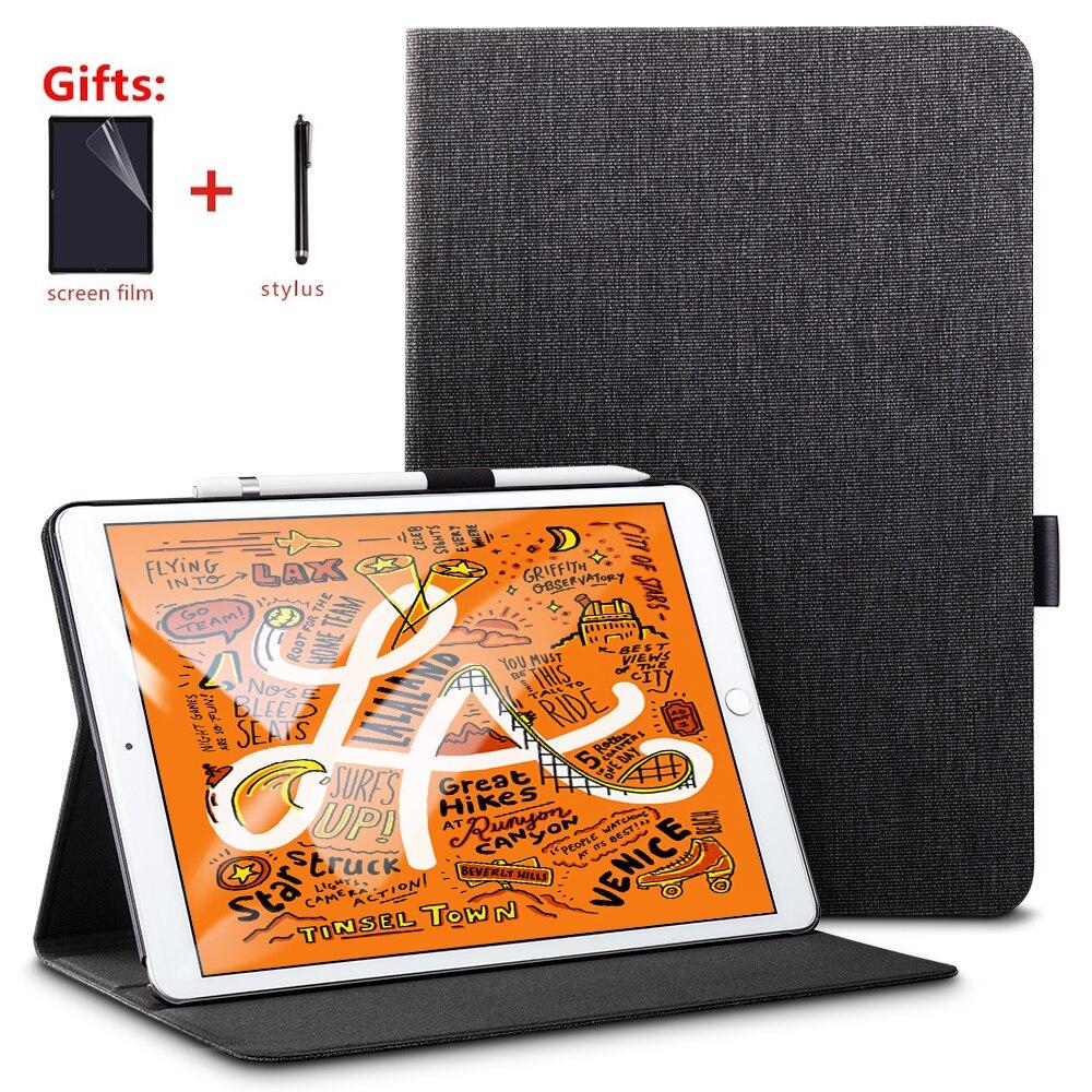 Funda para iPad Mini 5 2019 de 5ª generación, de 7,9 pulgadas, con portalápiz, carcasa protectora con soporte para Auto Wake/Sleep Protector de pantalla