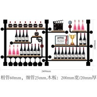 European-style Creative Wine Rack Wine Bottle Display Stand Rack Hihg Quality Iron Wall Mounted Wine Holder CCF