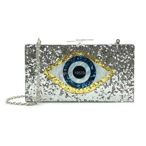 OC3510 China supplier wholesale handmade ladies evil eye acrylic bags