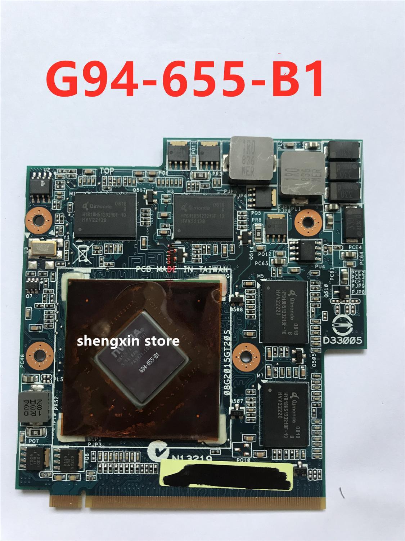 9800M GS 9800MGS G94-655-B1 512MB فيديو VGA بطاقة الرسومات لأجهزة الكمبيوتر المحمول Asus G50VT G50V المحمول 69N0BBV10B01-B01 69N0BBV10A03-A03