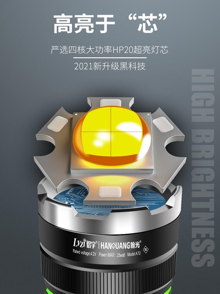 Adjustable Focus Flashlight Waterproof Aluminum Alloy Powerful Led Flashlight Rechargeable Linternas Portable Lighting BK50SD enlarge