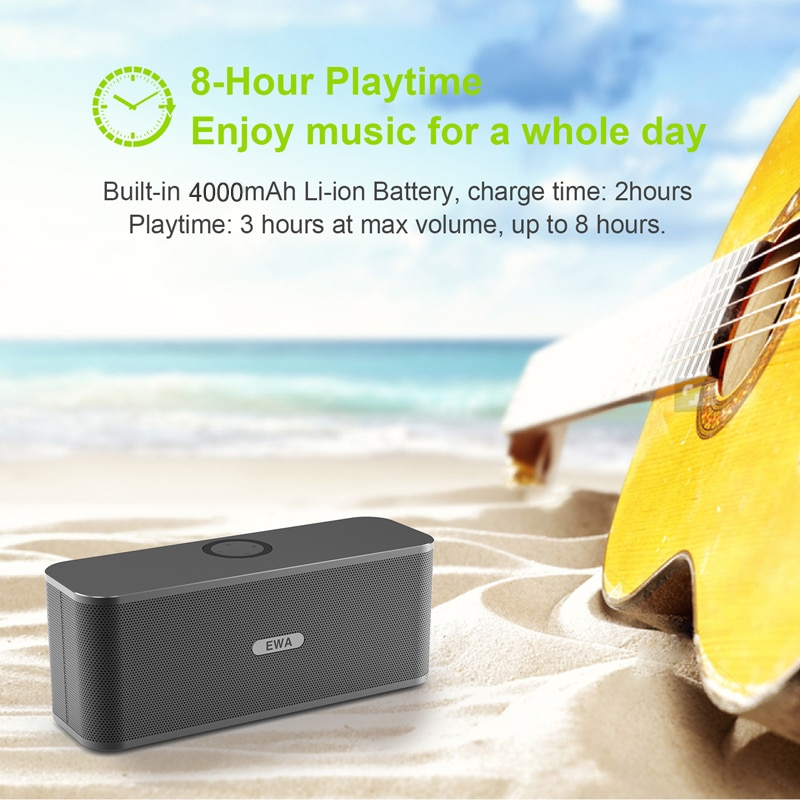 EWA W300 Bluetooth Speakers 2*6W Drivers Loud Stereo Sound 4000mAh Battery Wireless Portable Speaker For Travel Outdoor Party enlarge