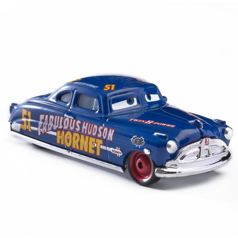 Disney Pixar Cars 3 2 Fabulous Hudson Hornet Sally Mater Lightning McQueen 1:55 Diecast Metal Alloy