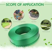 5M Garden Grass Edging Fence Belt Plastic Lawn Stone Isolation Backyard Decor Path Barrier Patio Gardening Belt Easy Assemble