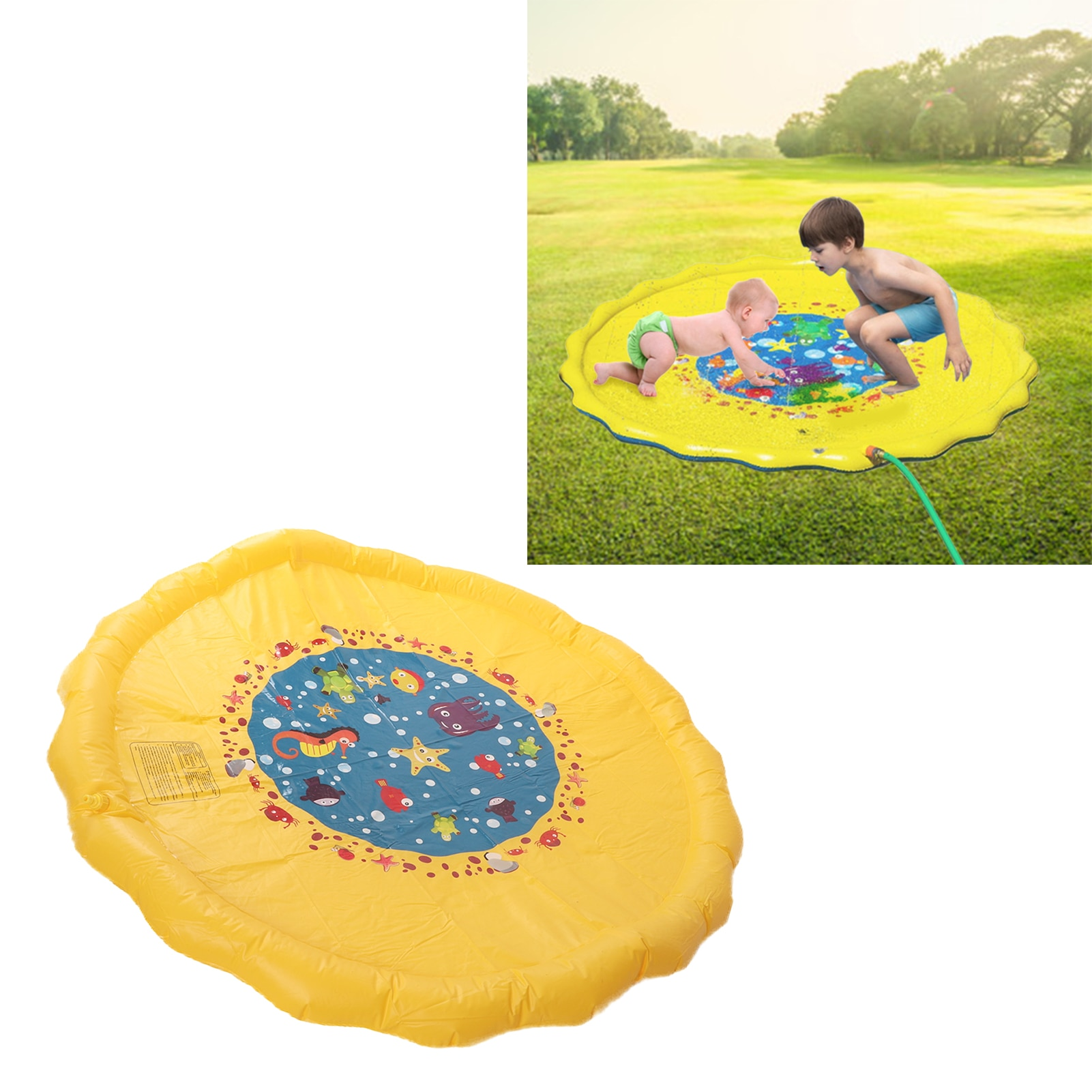 170cm Summer Inflatable Spray Water Cushion Kids Play Water Mat Lawn Games Pad Sprinkler Play Toys Outdoor Tub Kids Toys