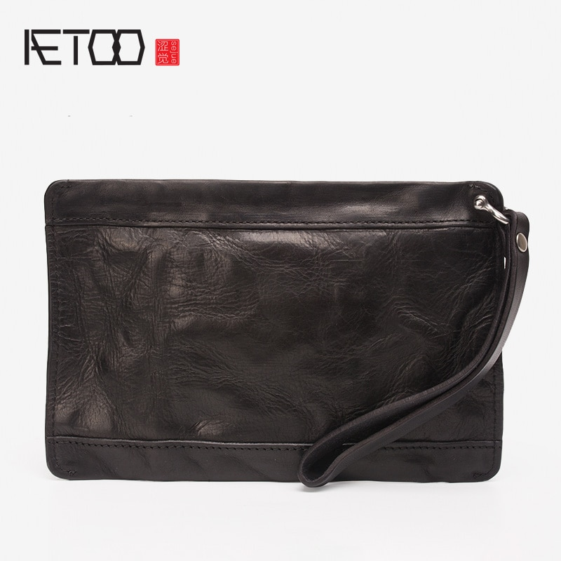 AETOO-حقائب اليد الجلدية الرجالية ، حقائب المحفظة الجلدية ، حقائب اليد غير الرسمية ذات السعة الكبيرة ، حقائب مغلف عصرية للرجال