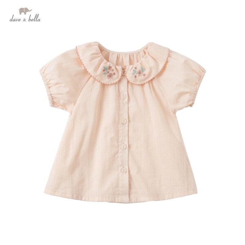 DBZ17883, летние модные рубашки с цветочной вышивкой для маленьких девочек, топы для малышей, детская одежда высокого качества|Блузки и рубашки| | АлиЭкспресс