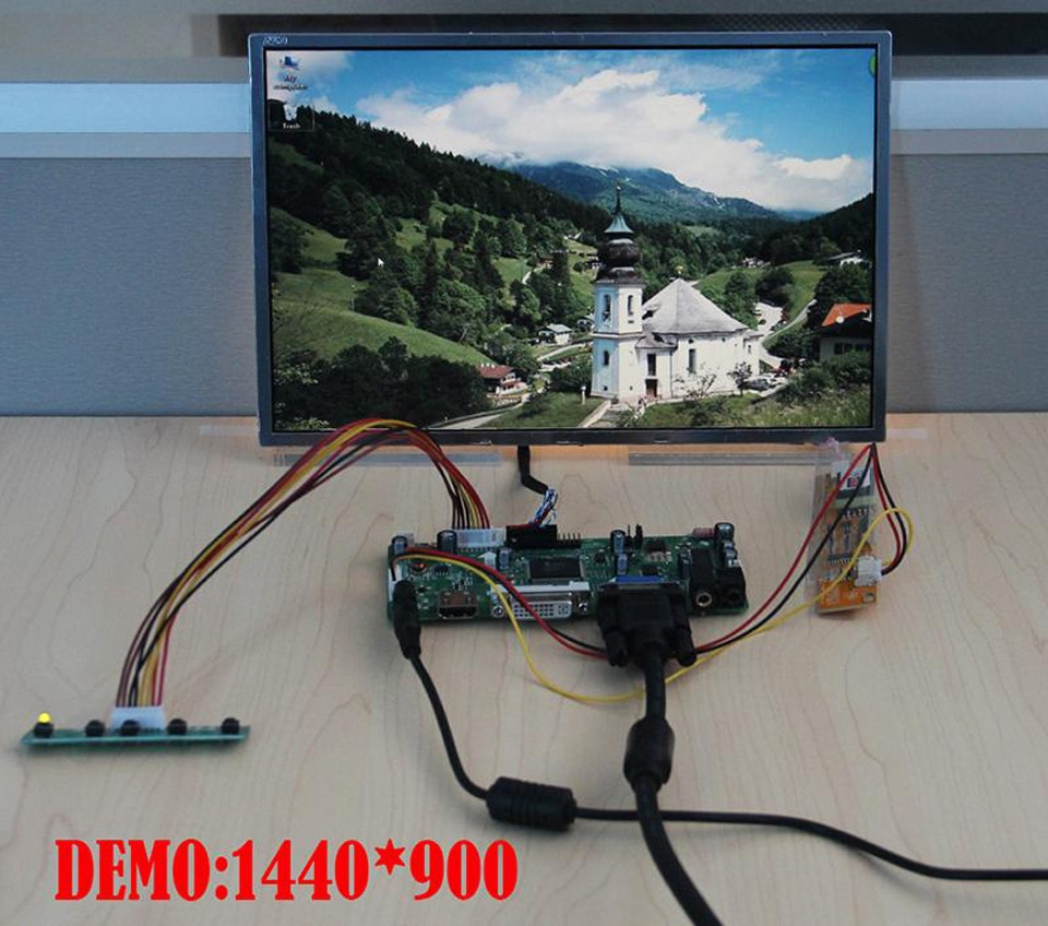 "Kit for CLAA154WB05AN M.NT68676 HDMI+DVI+VGA 1280x800 15.4"" LCD Audio Display Panel monitor Controller Board 30pin Screen"