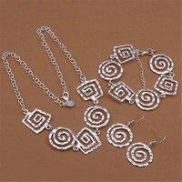 925 sterling silver jewelry sets fine retro thread earrings bracelets neckalce for women fashion party wedding christmas gifts
