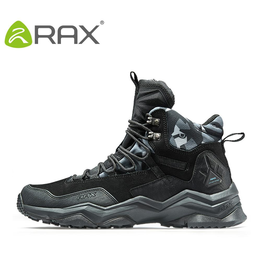 aleader winter warm men hiking trekking boots men outdoor walking shoes genuine leather climbing sneakers jogging shoes with fur RAX 2020 Waterproof Hiking Shoes For Men Winter Hiking Boots Men Outdoor Boots Climbing Walking Mountaineering Trekking Shoes
