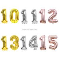 Воздушные шары, 40 дюймов, 10, 11, 12, 13, 14, 15 шаров, розовое золото, серебро, 10, 11, 12, 13, 14, 15, украшение для дня рождения, юбилейные шары
