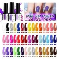 nail varnish 45pcs set gel lacquer soak off long lasting nail polish need base top coat semi permanent led gel cured by lamp