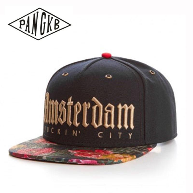 PANGKB Brand  A-Dam Cap golden letters flower snapback hat for men women adult outdoor casual adjustable sun baseball cap