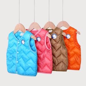 toddler boys girls down vest winter autumn warm kids waistcoat children's clothing thermal