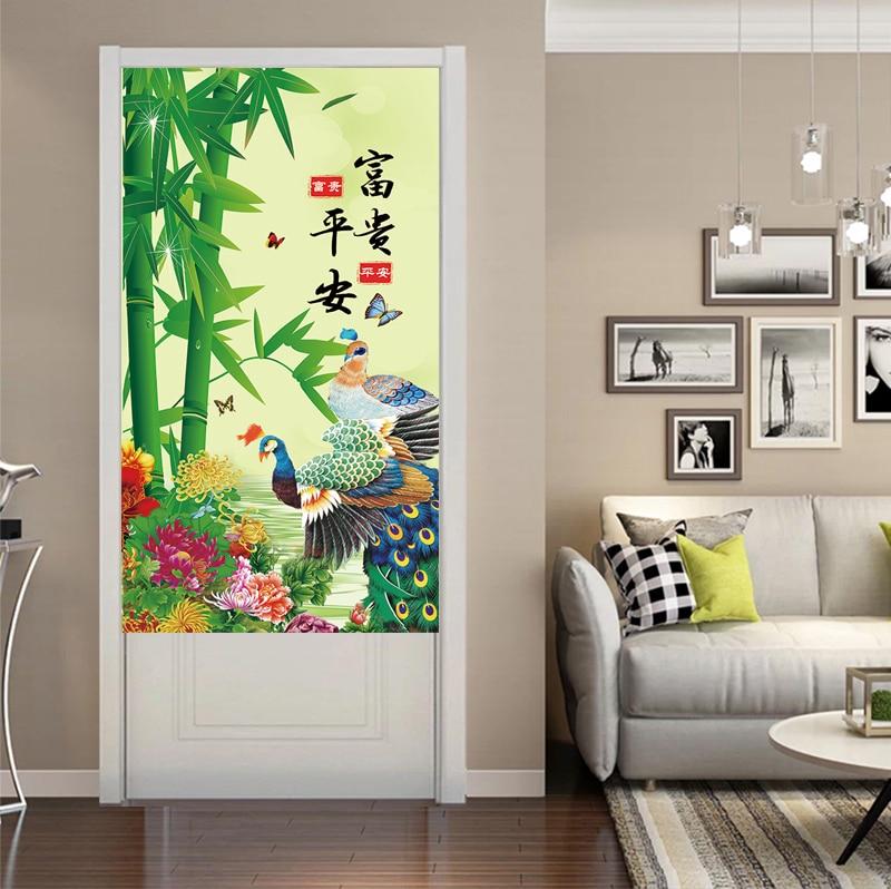 جديد النمط الصيني ستارة الباب المطبخ الحمام التقسيم الستار غرفة المعيشة ديكور الستار فنغ شوي الستار