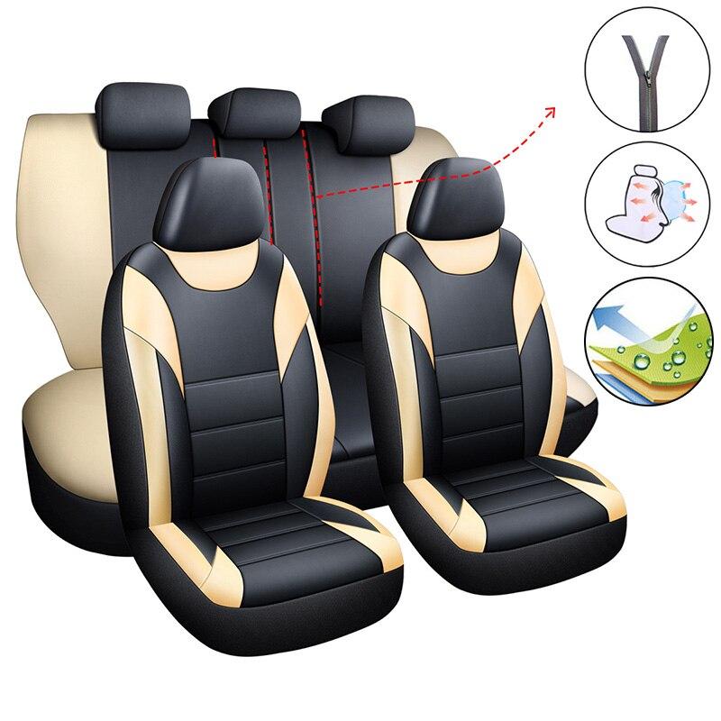 Fundas de asientos para asiento de coche, fundas de asientos para automóvil para Nissan Almera N16 G15 Classic Altima JUKE Kicks March Micra Murano Z51
