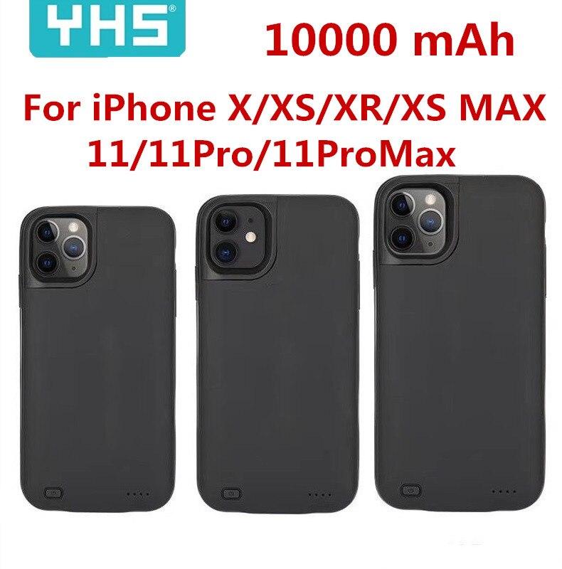Caliente 10000mAh cargador de batería para iphone X XS X XR XS MAX de Banco de potencia de carga para iphone xs 11 11Pro Max caso de banco de potencia