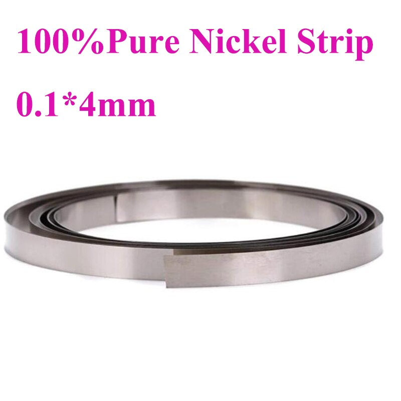 100% Tira de níquel puro 0,1*4mm de níquel de para 18650, 18500, 21700 AA AAA etc. Batería de soldadura