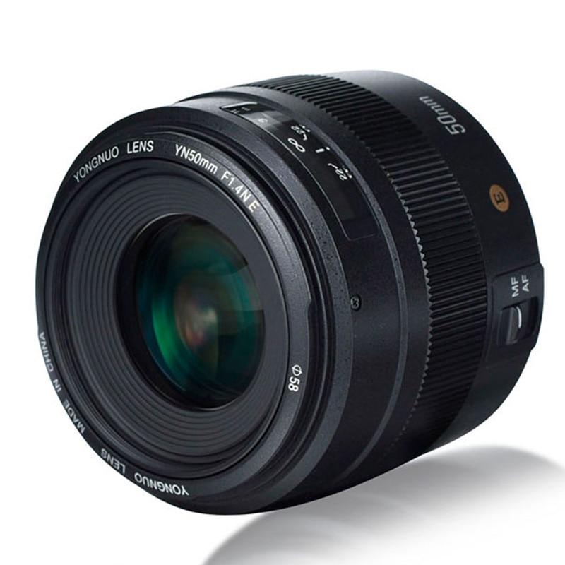 YONGNUO YN50mm F1.4N E مشرق فتحة كبيرة AF السيارات التركيز MF 50 مللي متر القياسية رئيس عدسة عرض مباشر التركيز لكاميرا نيكون DSLR