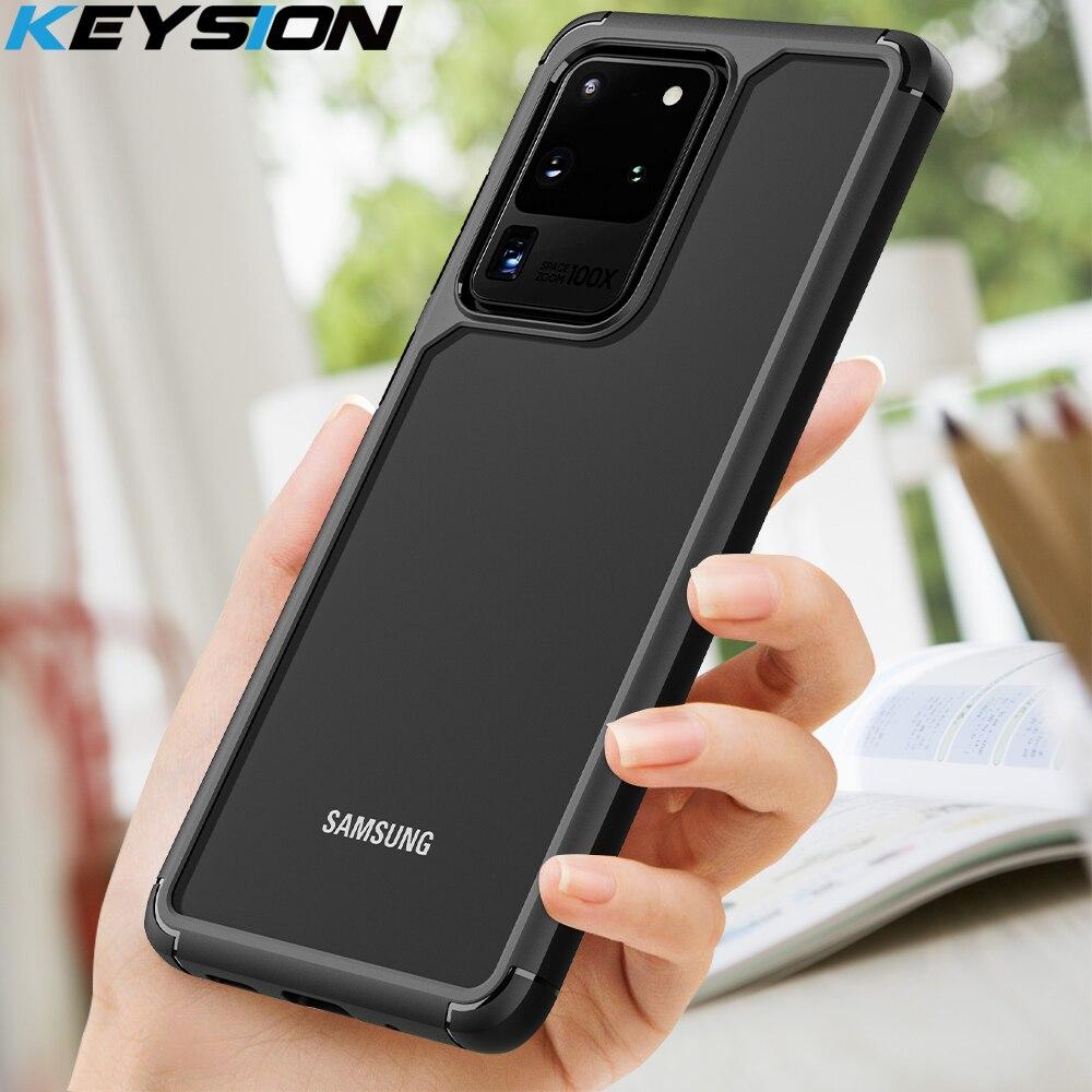 Funda de moda KEYSION a prueba de golpes para Samsung Galaxy S20 S20 Plus S20, funda trasera de teléfono de silicona Ultra transparente para Samsung S20 +