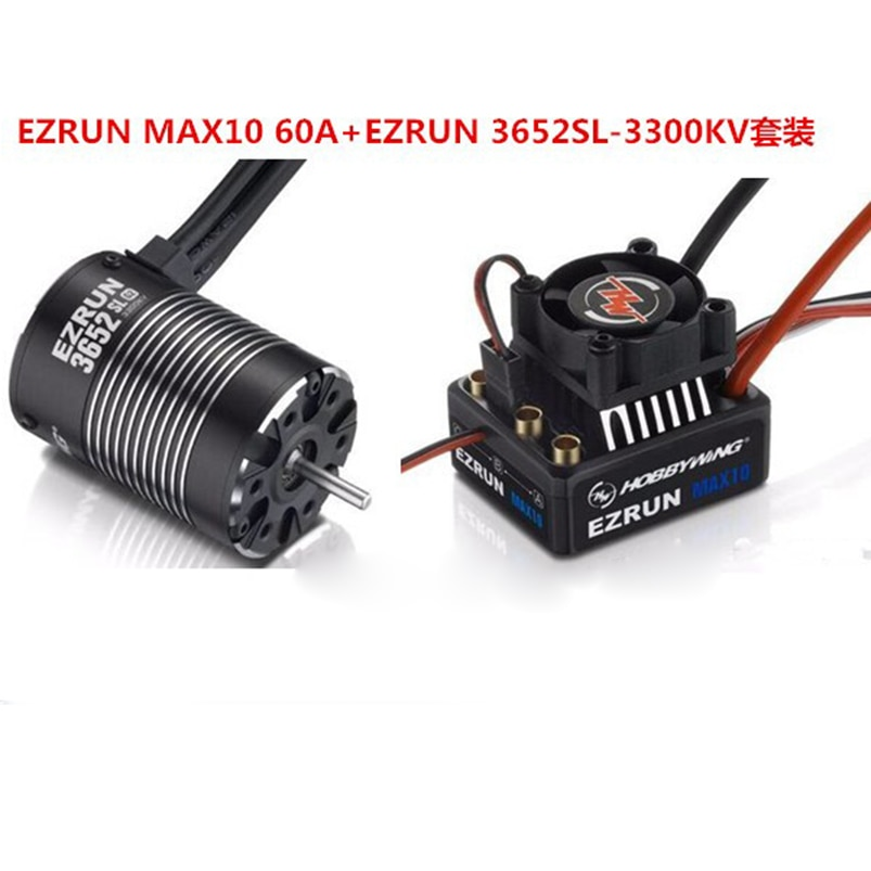 original Hobbywing Combo EZRUN MAX10 60A Brushless ESC 3300KV/4000KV/5400KV Waterproof RC Brushless Motor for 1/10 110 rc car