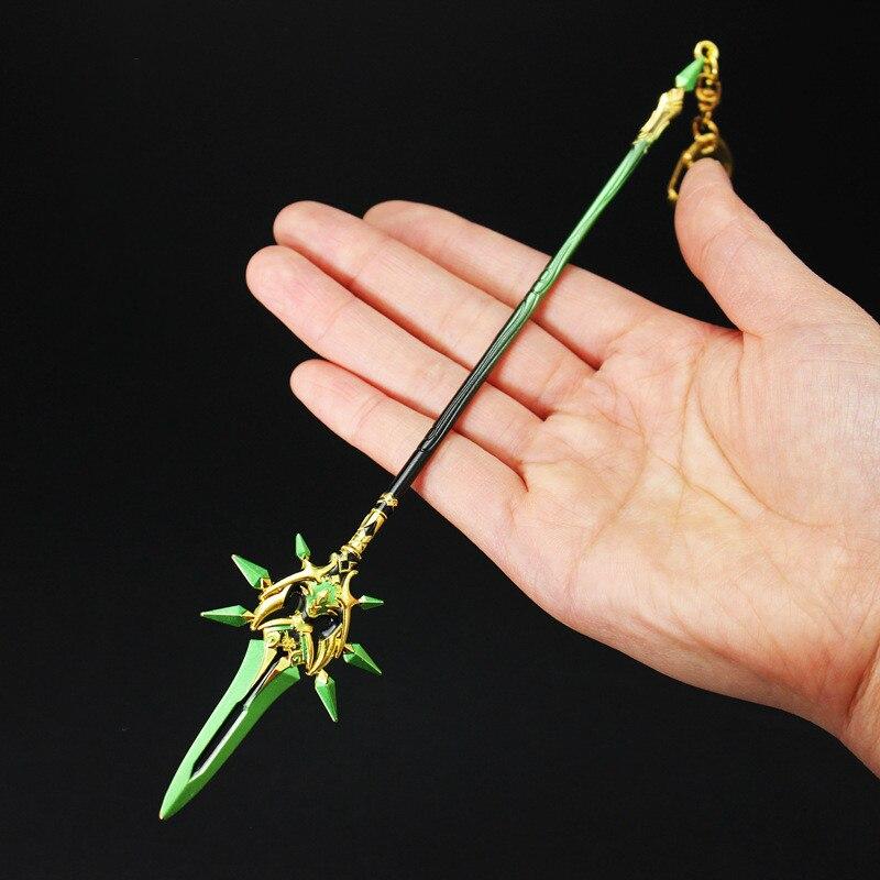 AliExpress - 25cm Genshin Impact Weapon Anime Skyward Blade Key Rings Klee ZhongLi Diluc Xiao Game Sword Model Toys Keychain Collection Gift