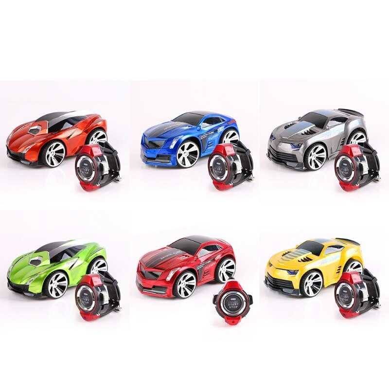 2.4G Mini Watch Voice Activated RC Car Drift Racing Model USB Rechargeable Electric Remote Control Smart Vehicle Toys diecasts toy voice activated car voice controlled toy car high speed car drift smart watch voice activated remote control car