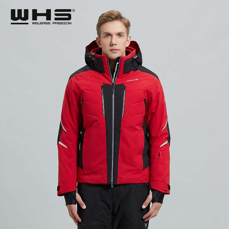 WHS Winter Men's Warm Ski Jacket Windproof and Waterproof Snow  European Jacket  New Cotton Fashion Tailoring Excellent Technolo
