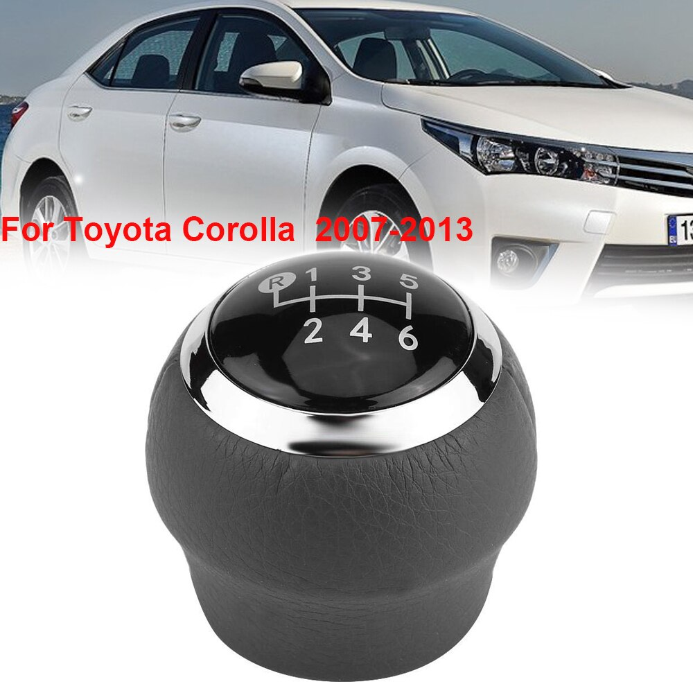 6 Speed MT Car Gear Shift Knob for TOYOTA Corolla 1.8MT 2007-2013 For RAV4 AVENSIS YARIS D4D URBAN Stifter Stick Lever