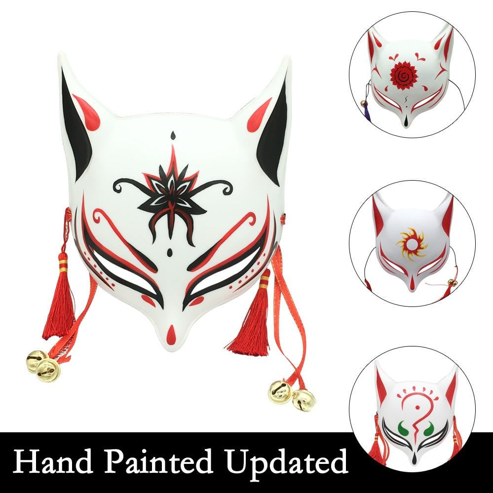 AliExpress - Hand Painted Kitsune Large Fox Mask for Cosplay, Japanese Kabuki Traditional Masks Halloween