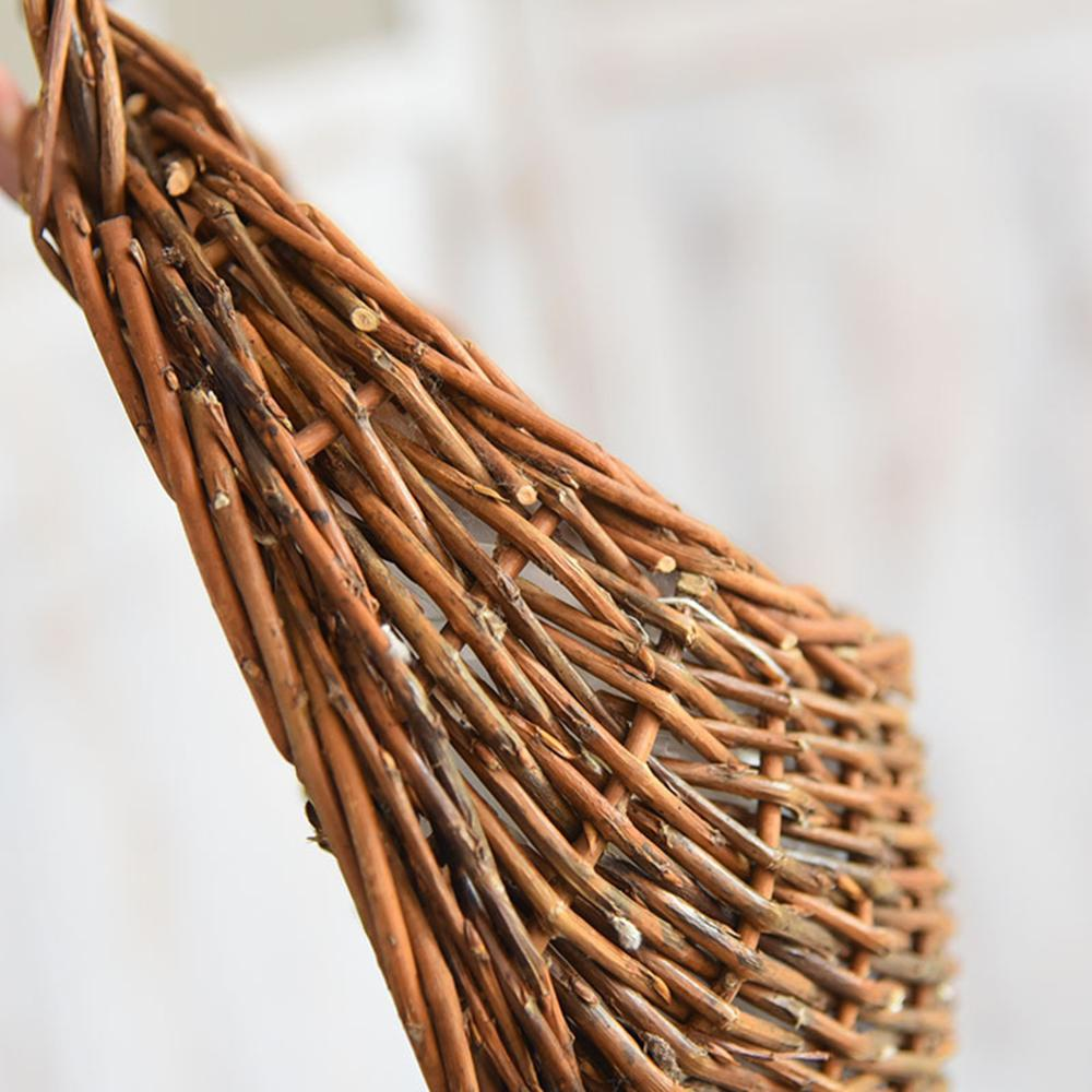 Keranjang rotan bunga rotan menggantung periuk pokok anggur penanaman - Peralatan berkebun - Foto 6