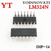 ! 100 шт./лот LM324N LM324 IC OPAMP GP 1,2 МГц DIP14