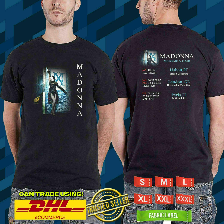 Nueva camiseta negra de 2020 de la gira mundial Madonna W22