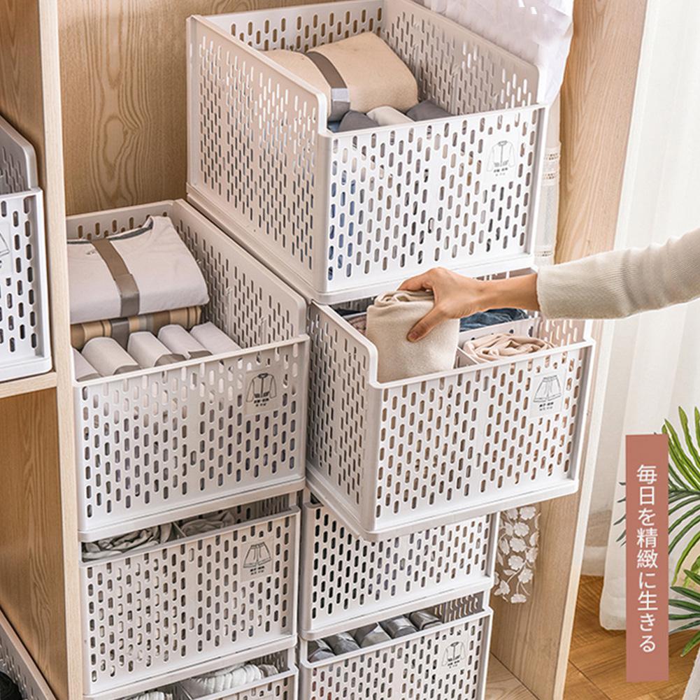 Tipo cajonera Carpeta de ropa separador en capas armario cesta de almacenamiento ahorrador de espacio