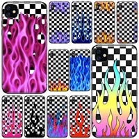 artistic personality fire flame phone case for iphone 11 12 pro xs max 8 7 6 6s plus x 5s se 2020 xr soft silicone cover shell