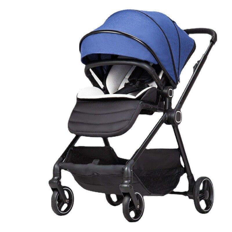 عربة أطفال خفيفة وذات مناظر طبيعية عالية يمكن الجلوس والاستلقاء في اتجاهين سيارة أطفال محمولة عربة أطفال