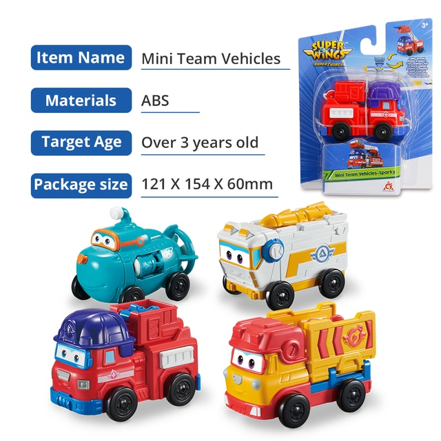 Super Wings 4 Mini Team Vehicles Action Figures Robot Transforming Bots Transformation Toys Rover Sparky Remi Willy For Kid Gift 10
