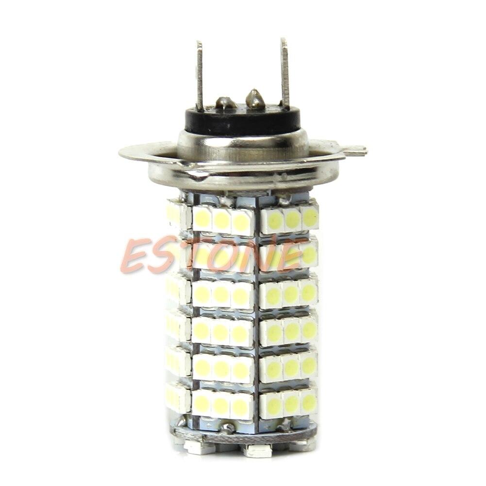 Высокая мощность H7 3528 120-SMD светодиодный Белый Автомобильный противотуманный яркий светильник 6000K