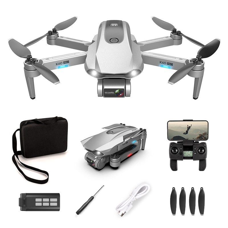 K60 Pro GPS Drone With Camera 6K 4K HD Two-Axis Gimbal Brushless Professional RC Quadrocopter 5G Wifi Fpv Distance 1.2km Flight