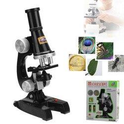 100x 200x 450x microscópio de ampliação crianças educação brinquedo para ocular eletrônico monocular estudante laboratório educação